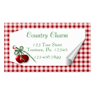 Curl Tag Cherries Hang Tag Pack Of Standard Business Cards