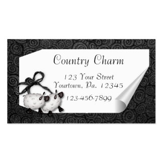 Curl Tag Sheep Business Card