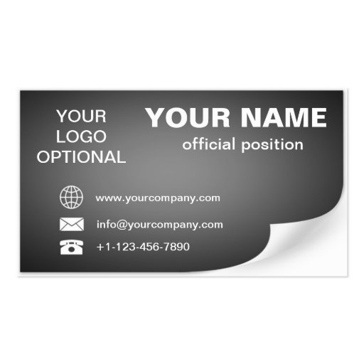 curled business card