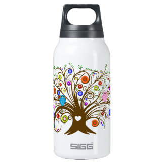Curled Tree With Owls 0.3L Insulated SIGG Thermos Water Bottle