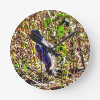 CURLEW RURAL AUSTRALIA WITH ART EFFECTS WALLCLOCK