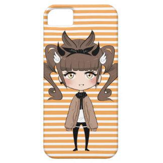 Curlicue Chibi Girl iPhone 5 Covers