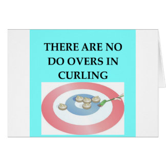 CURLING CARD
