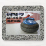 Curling - Clean House Mousepad
