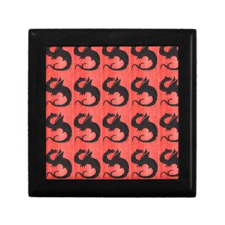 Curling Dragon Small Square Gift Box