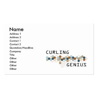 Curling Genius Business Card