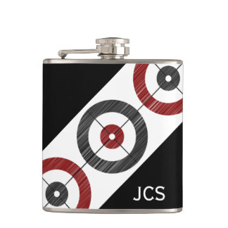 Curling Houses Flask - Add Your Initials