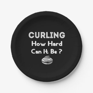 Curling, How Hard Can It Be? Paper Plate