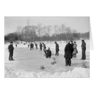 Curling in Central Park, 1906 Card