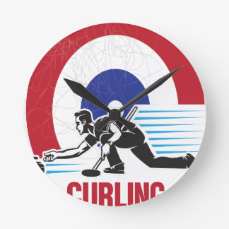 Curling Is Cool Day - Appreciation Day Round Clock