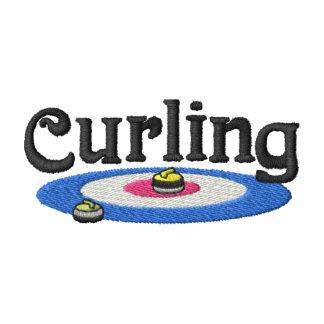 Curling Logo Embroidered Fleece Track Jacket