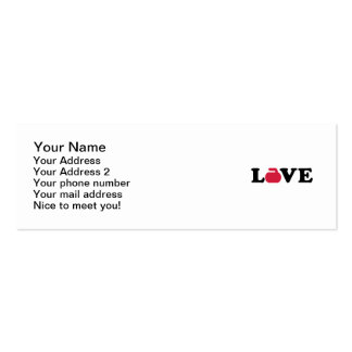 Curling love business card templates