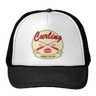 Curling patch cap
