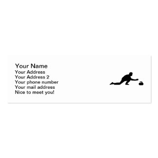 Curling player business cards