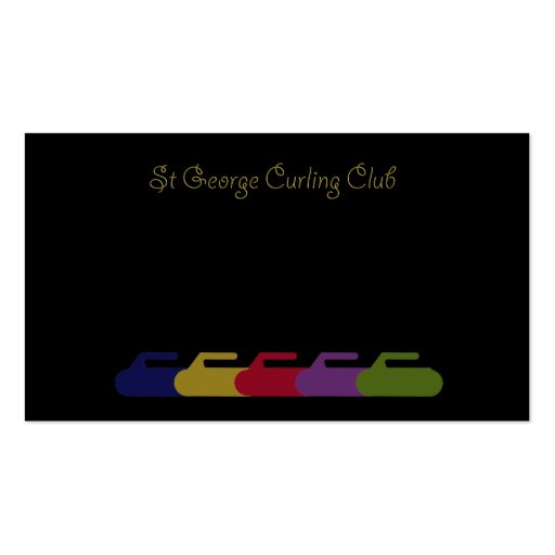 curling rainbow business card templates