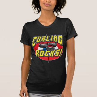 Curling Rocks Red Stones t-shirts and Gift Ideas
