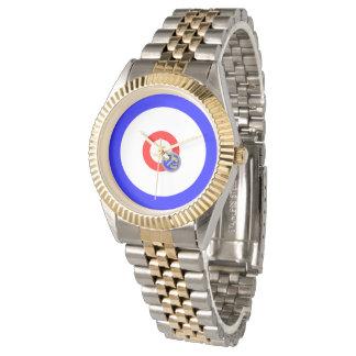 Curling rocks wrist watch