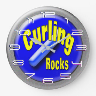 Curling stone large clock