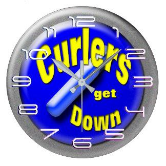 Curling stone large clock