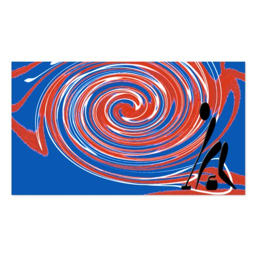 curling twirl business card template