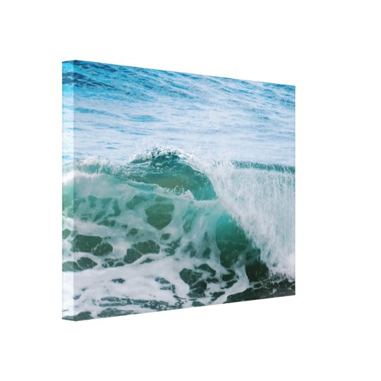 Curling Wave Canvas Print