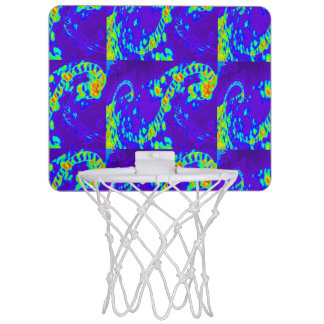 curling waves Thunder_Cove blue/green Mini Basketball Hoop