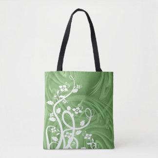 Curls Over Green Artwork Tote Bag