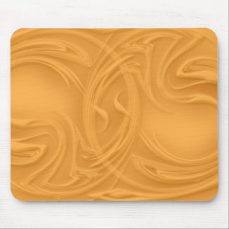 Curls Over Orange Artwork Mouse Pad