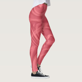Curls Over Red Artwork Leggings