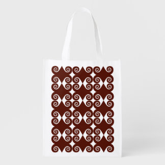 Curls Pattern Reusable Grocery Bag
