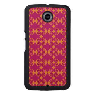 Curls Pattern Wood Phone Case