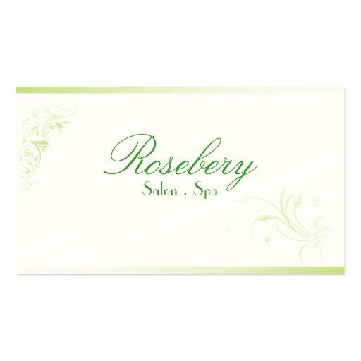 Curls Salon Spa Stylish Green Trendy Business Card