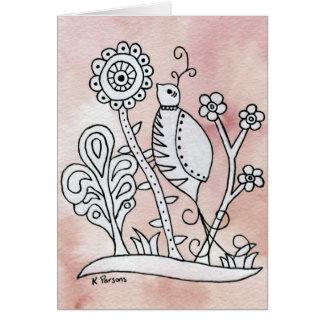 Curly Bird, Mexican Bark Card