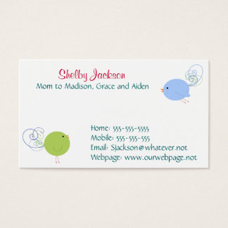 Curly Birds Business Card