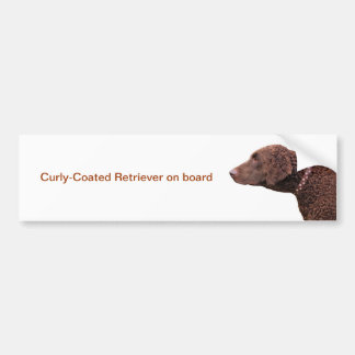 Curly Coated Retriever dog car bumper sticker