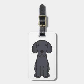 Curly Coated Retriever Dog Cartoon Luggage Tag