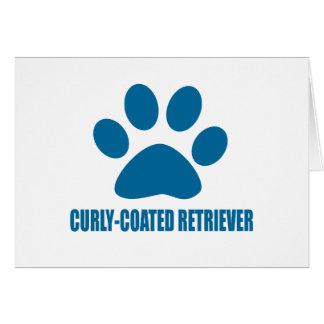CURLY-COATED RETRIEVER DOG DESIGNS CARD