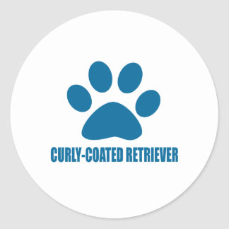 CURLY-COATED RETRIEVER DOG DESIGNS CLASSIC ROUND STICKER