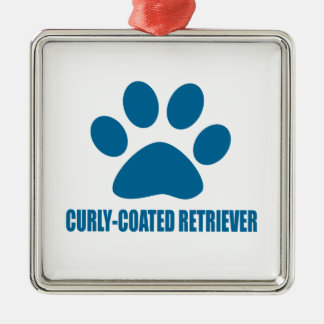 CURLY-COATED RETRIEVER DOG DESIGNS METAL ORNAMENT