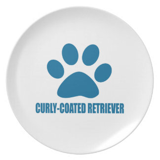 CURLY-COATED RETRIEVER DOG DESIGNS PLATE