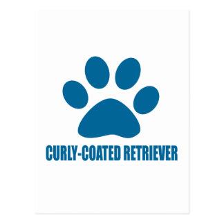 CURLY-COATED RETRIEVER DOG DESIGNS POSTCARD