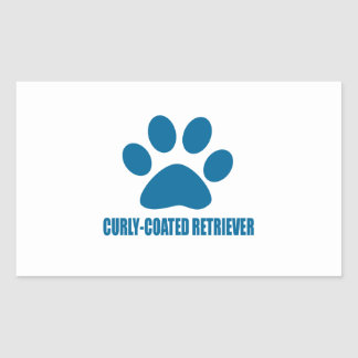 CURLY-COATED RETRIEVER DOG DESIGNS RECTANGULAR STICKER