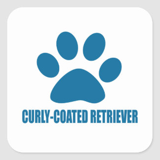 CURLY-COATED RETRIEVER DOG DESIGNS SQUARE STICKER