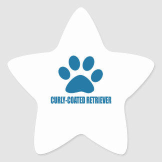 CURLY-COATED RETRIEVER DOG DESIGNS STAR STICKER