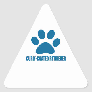 CURLY-COATED RETRIEVER DOG DESIGNS TRIANGLE STICKER