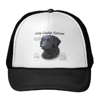 Curly-Coated Retriever History Design Trucker Hats