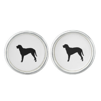 Curly Coated Retriever Silhouette Love Dogs Cufflinks