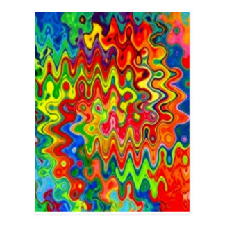 Curly Colors Postcard