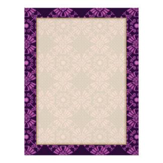 Curly Cute Flowers - Purple on Black Flyer