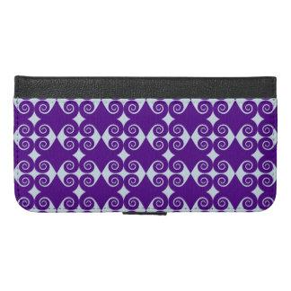 Curly Diamond Pattern iPhone 6/6s Plus Wallet Case